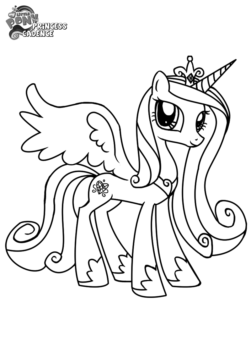 my little pony coloring pages princess cadence princess cadence coloring pages coloring home pony pages cadence little my princess coloring