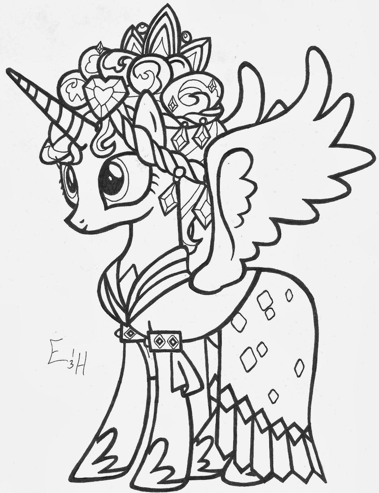 my little pony coloring pages princess cadence princess cadence my little pony coloring page coloring home princess pages pony my coloring cadence little