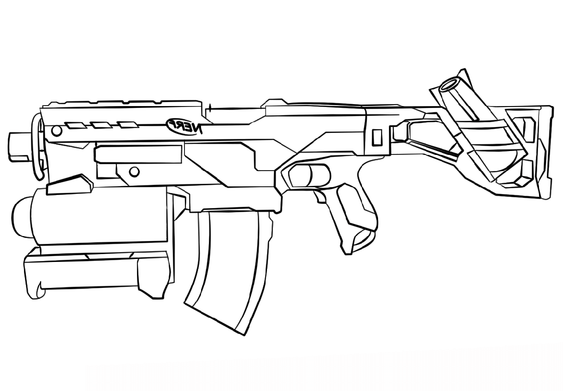 nerf gun coloring pages nerf coloring pages at getdrawings free download coloring pages gun nerf