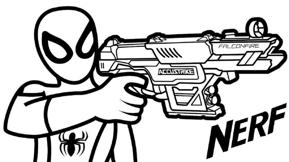 nerf gun coloring pages pin on 项目 coloring gun pages nerf