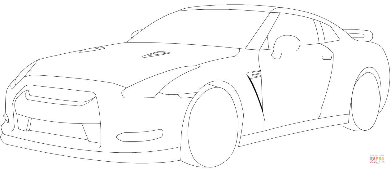nissan gtr colouring pages gtr r35 drawing at getdrawings free download nissan colouring pages gtr