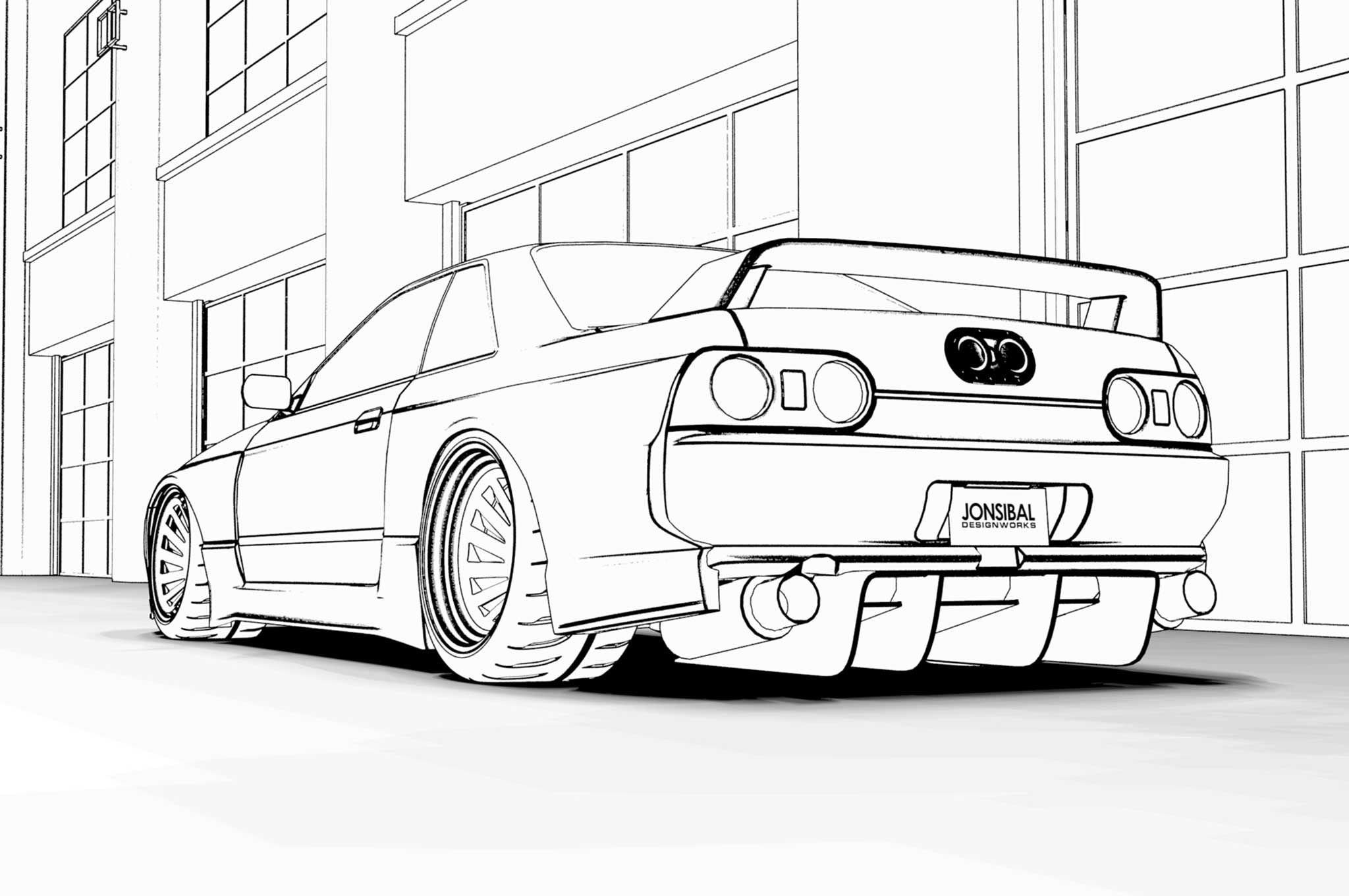 nissan gtr colouring pages nissan gtr r35 drawing at getdrawings free download colouring pages gtr nissan