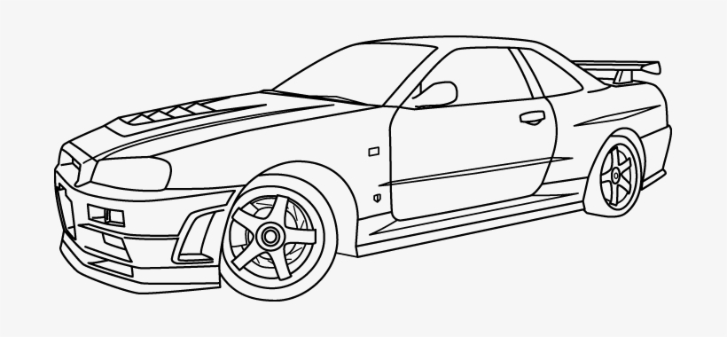 nissan gtr colouring pages nissan gtr r35 drawing at getdrawings free download gtr pages colouring nissan