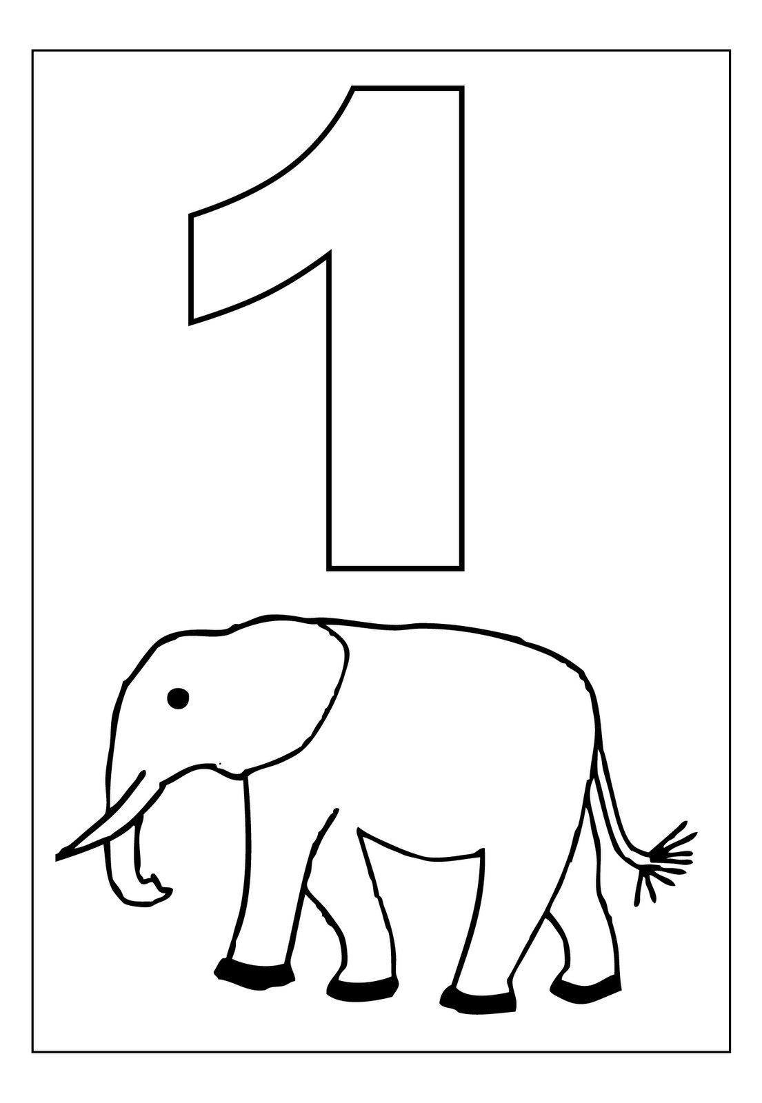 number 1 for coloring free printable number coloring pages for kids coloring number for 1