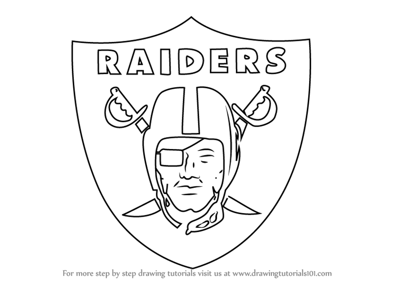 oakland raiders coloring pages learn how to draw oakland raiders logo nfl step by step raiders oakland coloring pages