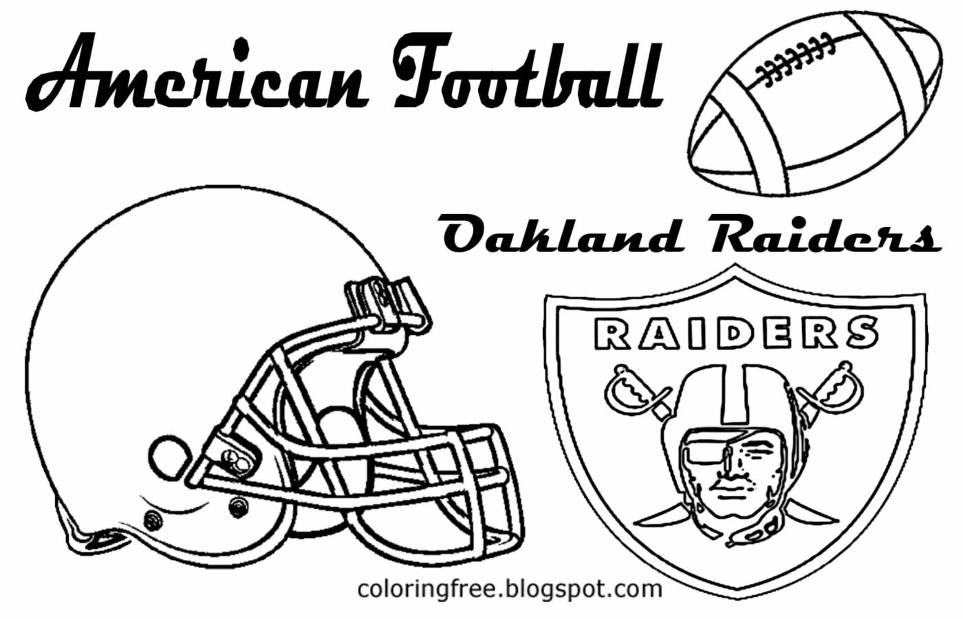 oakland raiders coloring pages oakland raiders coloring pages at getdrawings free download coloring raiders oakland pages