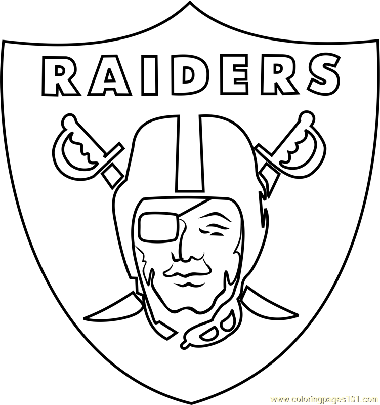 oakland raiders coloring pages oakland raiders coloring pages logo vingel coloring raiders pages oakland