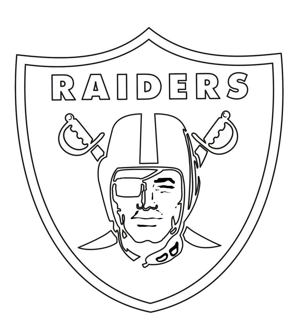 oakland raiders coloring pages oakland raiders logo coloring page free printable raiders coloring pages oakland