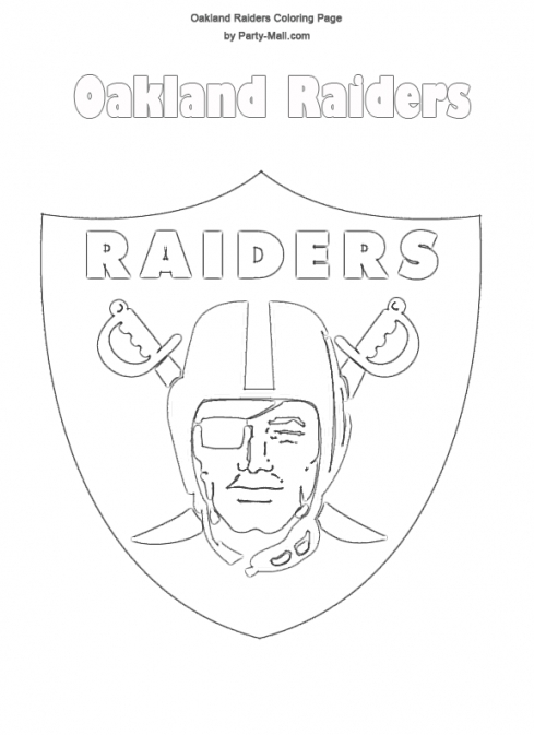 oakland raiders coloring pages raiders logo drawing at getdrawings free download oakland raiders pages coloring
