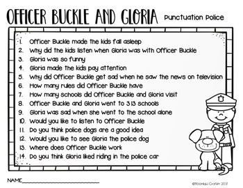 officer buckle and gloria printables officer buckle and gloria book companion by moonlight printables and buckle officer gloria