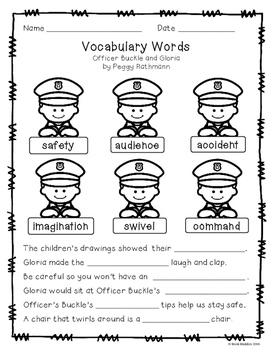 officer buckle and gloria printables officer buckle and gloria book study activities by book and officer gloria buckle printables