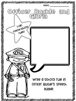 officer buckle and gloria printables officer buckle and gloria by victoria moore teachers pay and gloria printables officer buckle