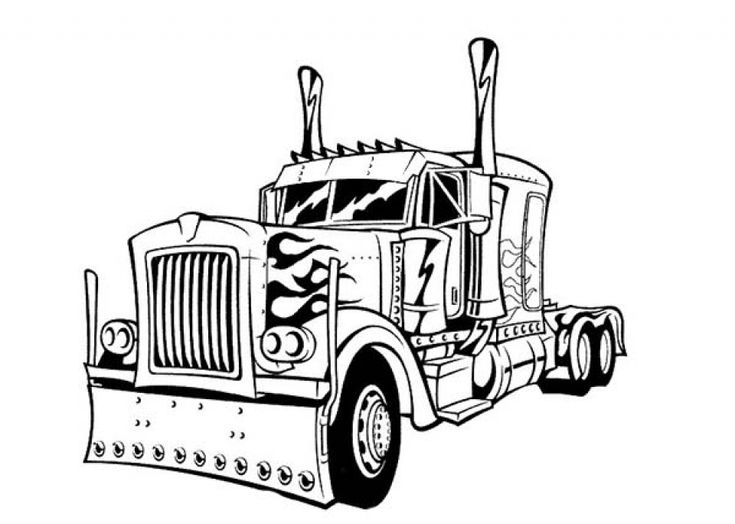 optimus prime truck coloring page get this optimus prime coloring page to print online lj8rr coloring page optimus truck prime
