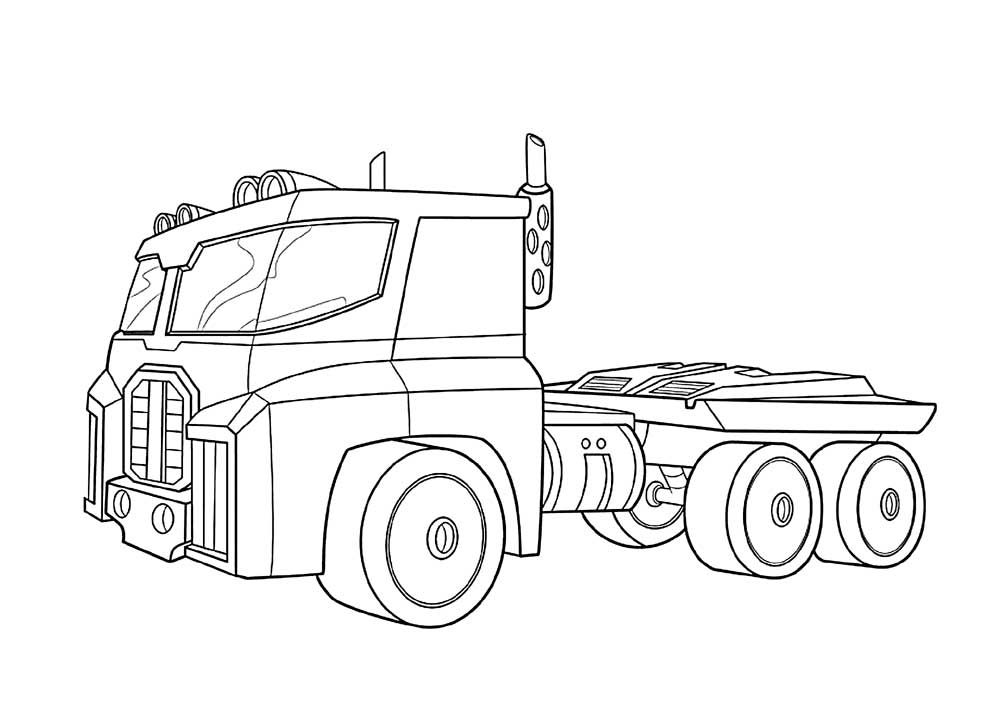 optimus prime truck coloring page optimus prime truck colouring pages to print online optimus truck coloring prime page