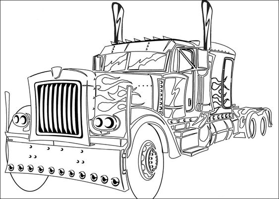 optimus prime truck coloring page optimus prime truck transformers coloring pages prime truck optimus page coloring
