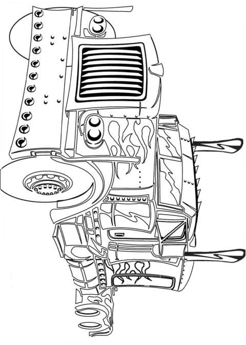 optimus prime truck coloring page transformers optimus prime the last night coloring pages coloring page optimus truck prime