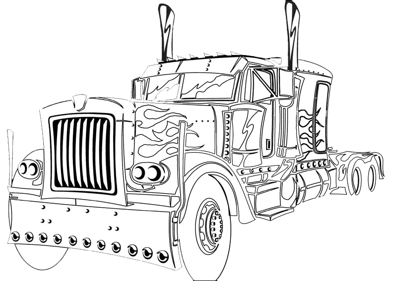 optimus prime truck coloring page transformers truck coloring sketchhttpcolorasketchcom page optimus prime coloring truck