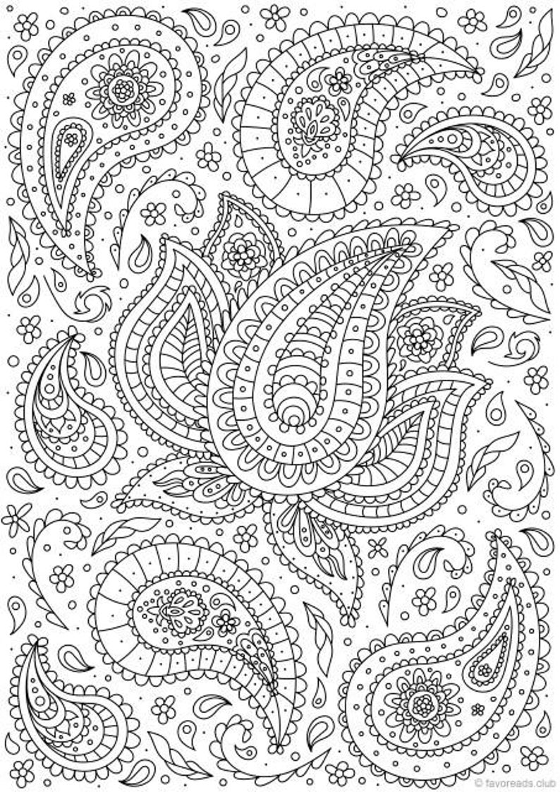 paisley print coloring pages 24 more free printable adult coloring pages paisley pages paisley coloring print