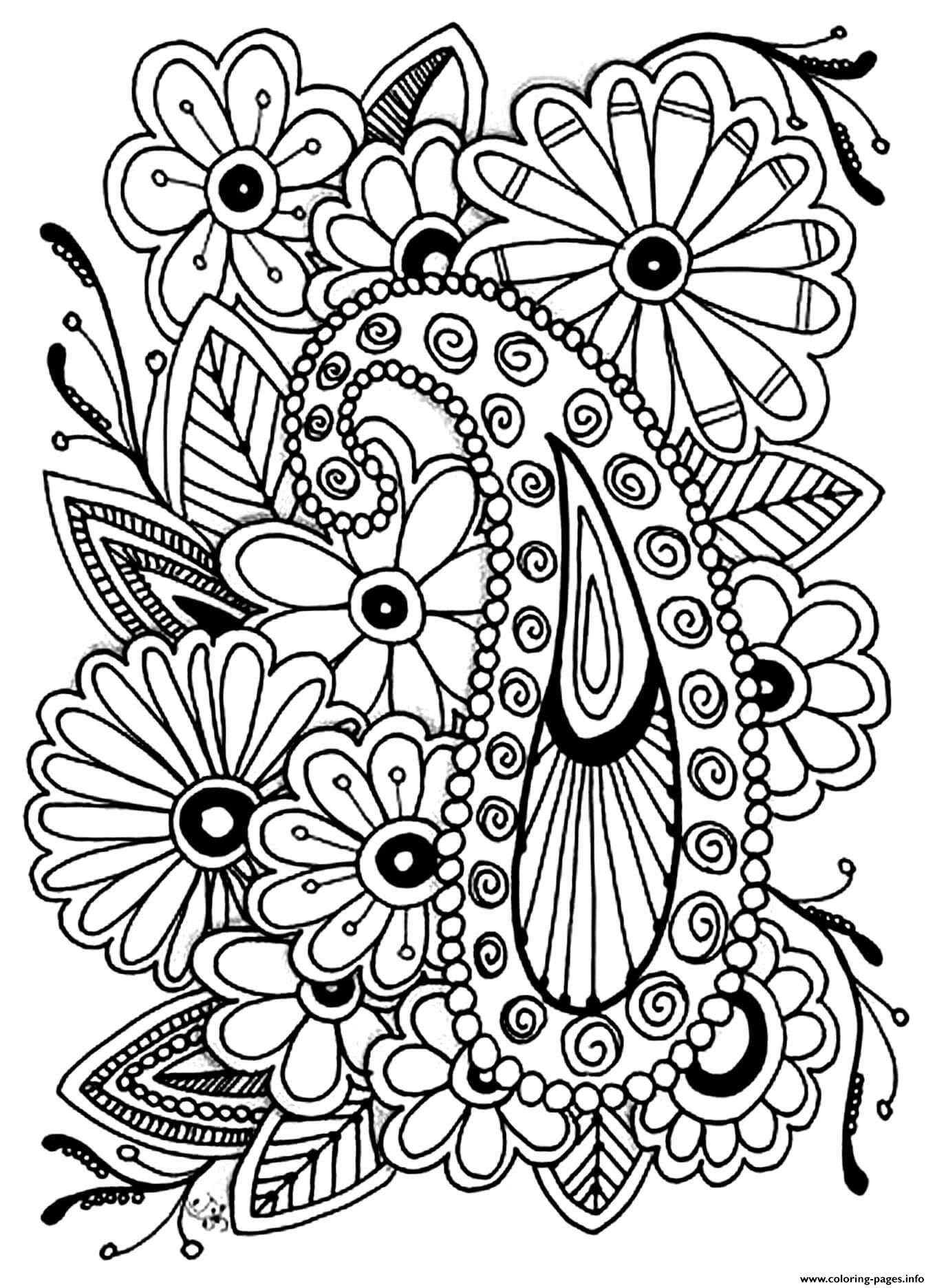 paisley print coloring pages flowers with paisley patterns coloring page free coloring print pages paisley