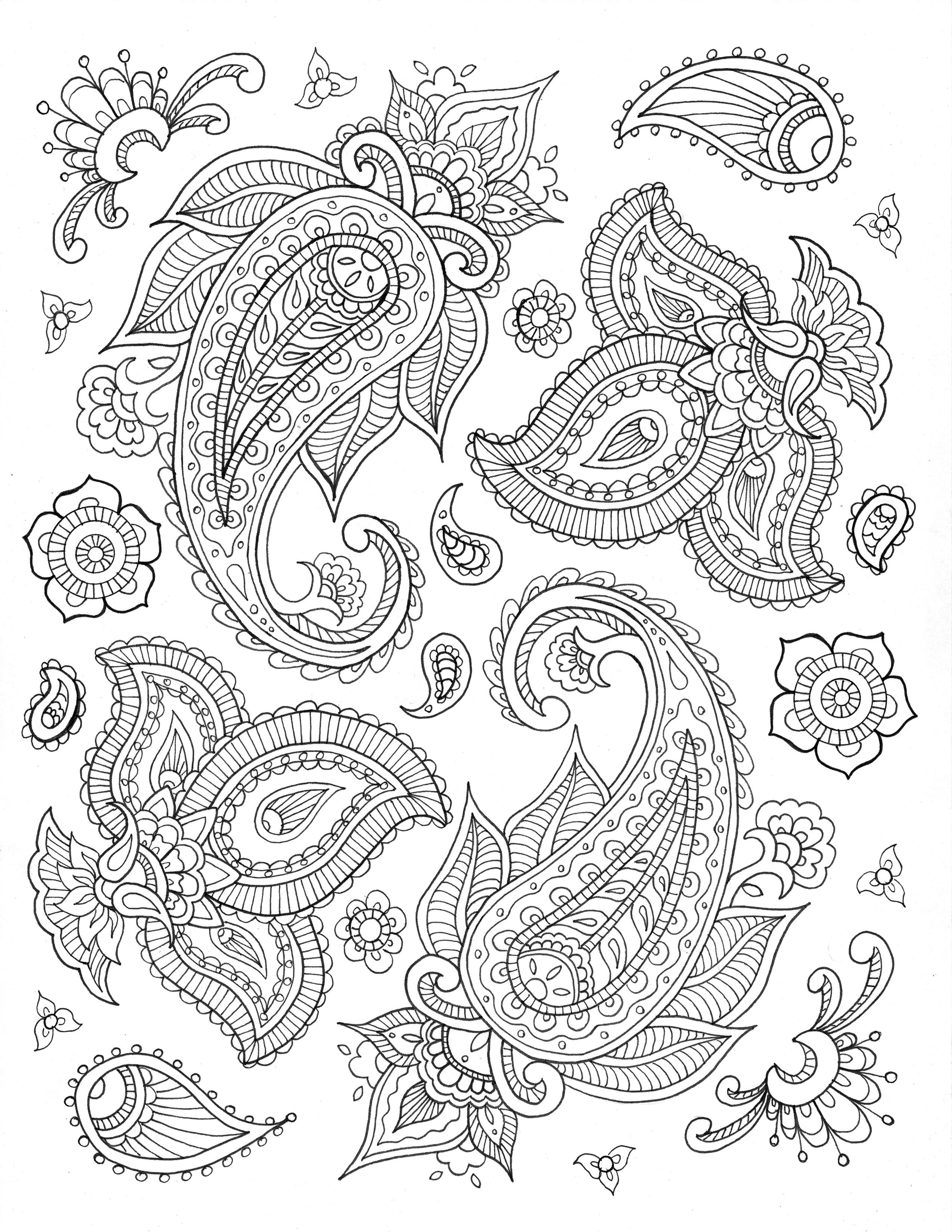 paisley print coloring pages paisley pattern coloring page free printable coloring pages paisley pages coloring print