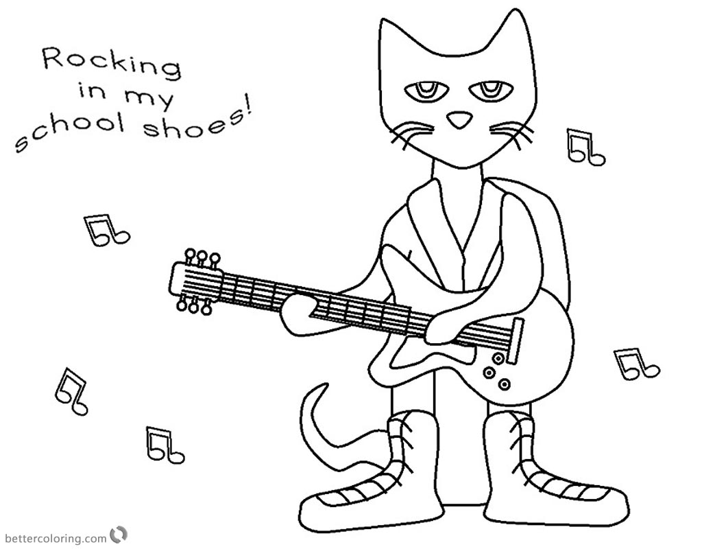 pete the cat printables free printable cat coloring pages for kids cool2bkids the pete printables cat