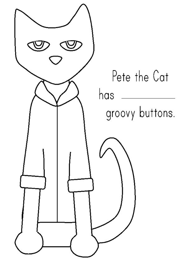 pete the cat printables pete the cat groovy buttons coloring page free printable the printables pete cat