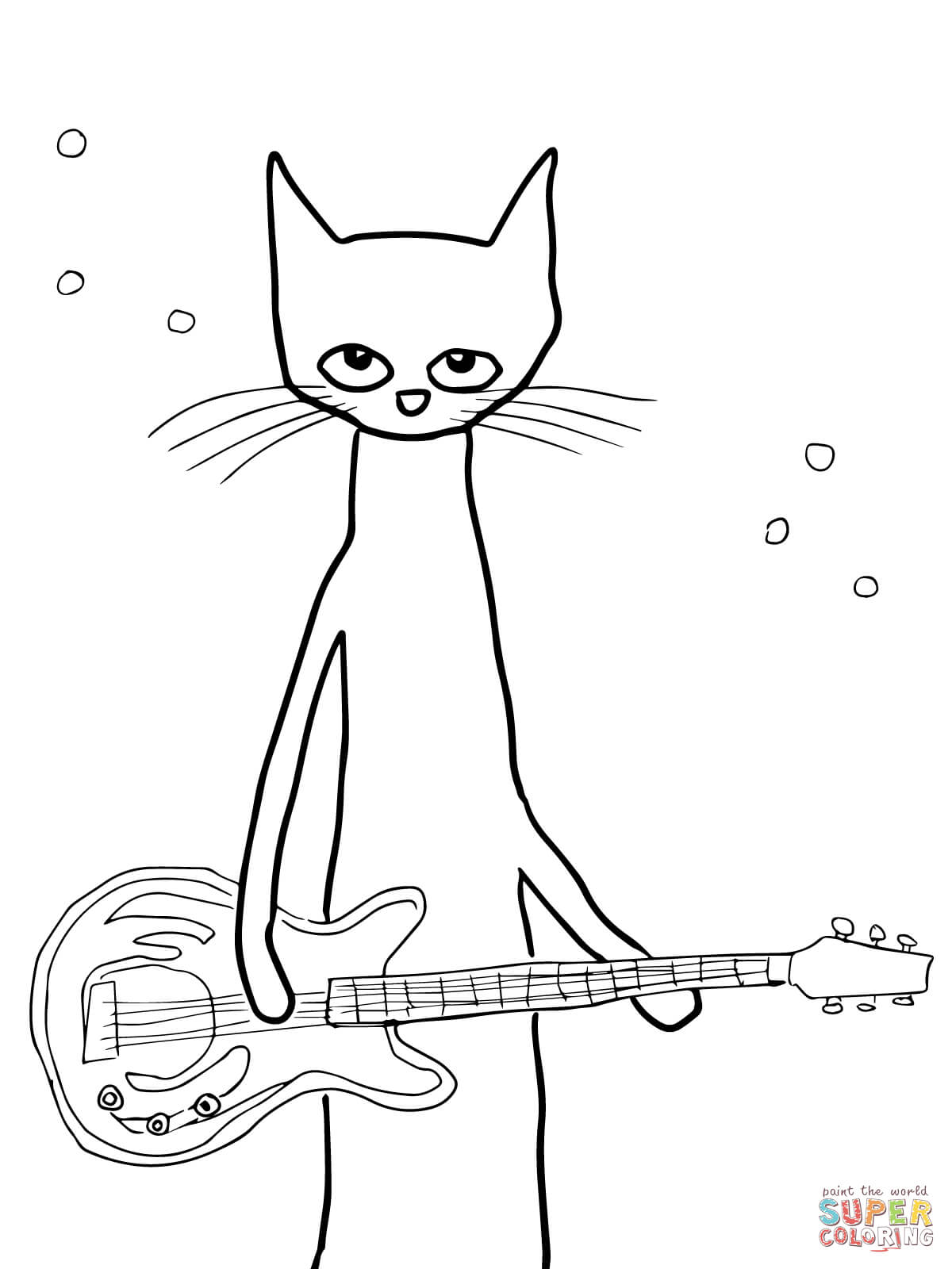 pete the cat printables pete the cat rocking in my school shoes coloring page pete printables the cat