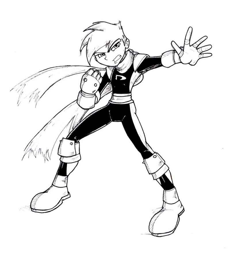 phantom coloring pages danny phantom one coloring page coloring phantom pages