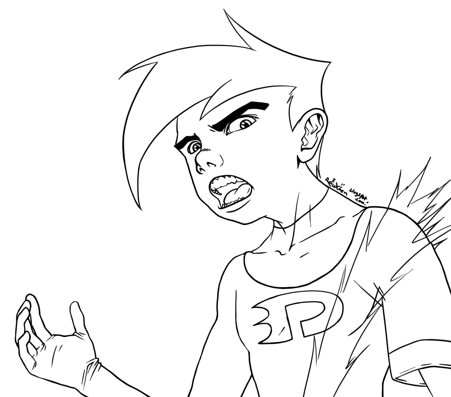 phantom coloring pages danny phantom sat thinking about something with images pages phantom coloring