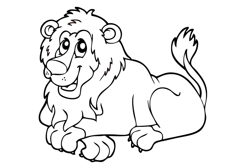 picture of a lion to color lion coloring pages to download and print for free of a lion color picture to