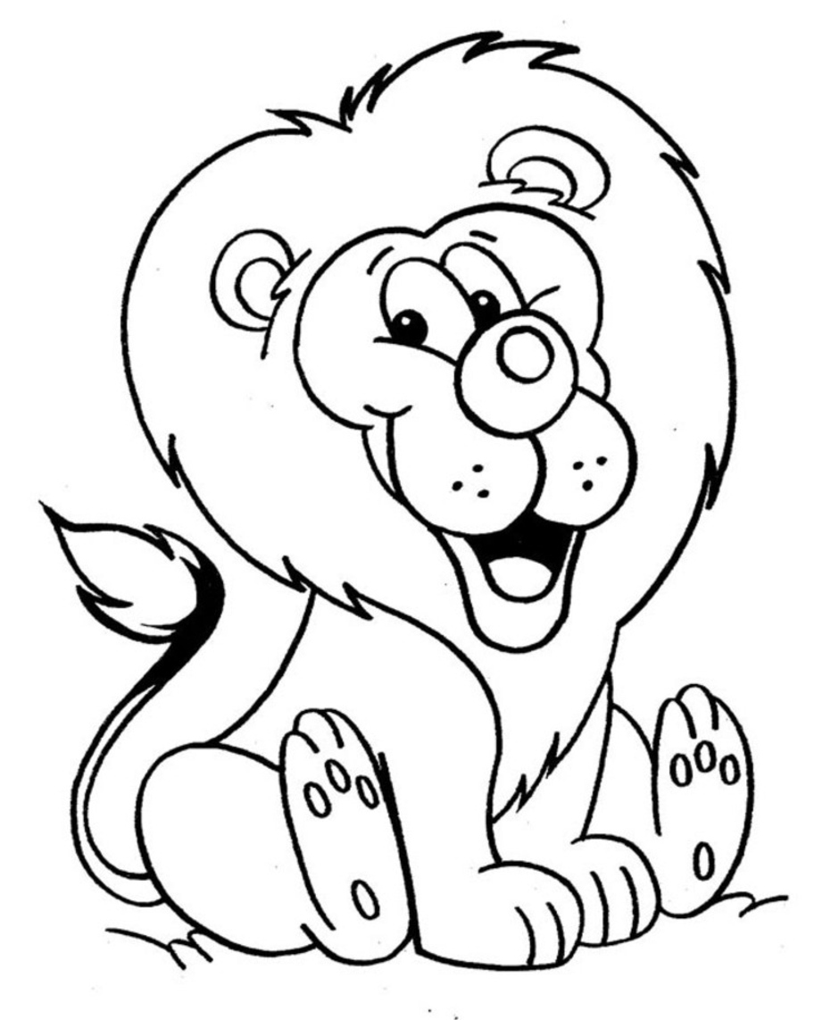 picture of a lion to color north african lion coloring cswd lion color a picture to of
