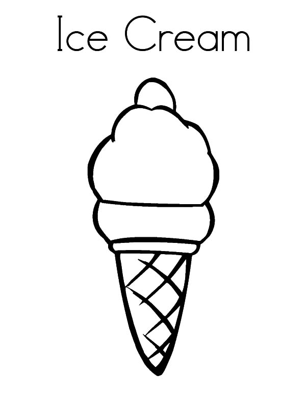 picture of ice cream cone to color ice cream cone coloring page at getcoloringscom free ice cone color cream picture of to