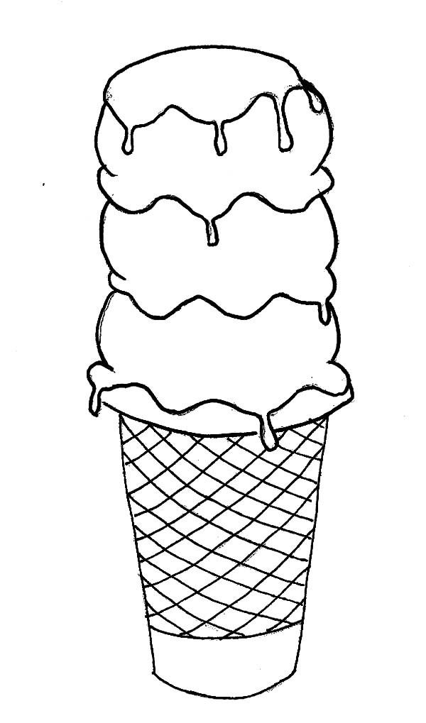 picture of ice cream cone to color ice cream cone free coloring pages to picture color of cream ice cone