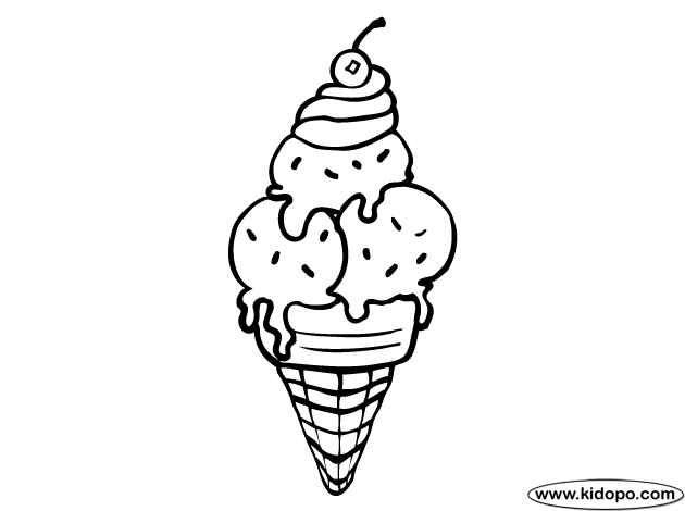 picture of ice cream cone to color ice cream cone to print and color coloring pages picture of to cream ice color cone