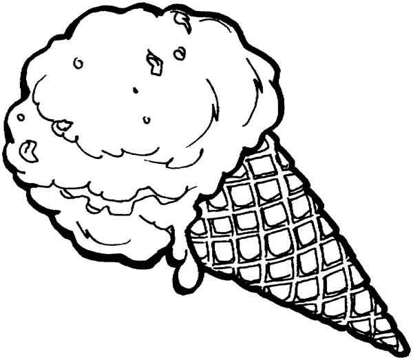 picture of ice cream cone to color ice cream melting coloring page coloring sky ice picture of to cream cone color