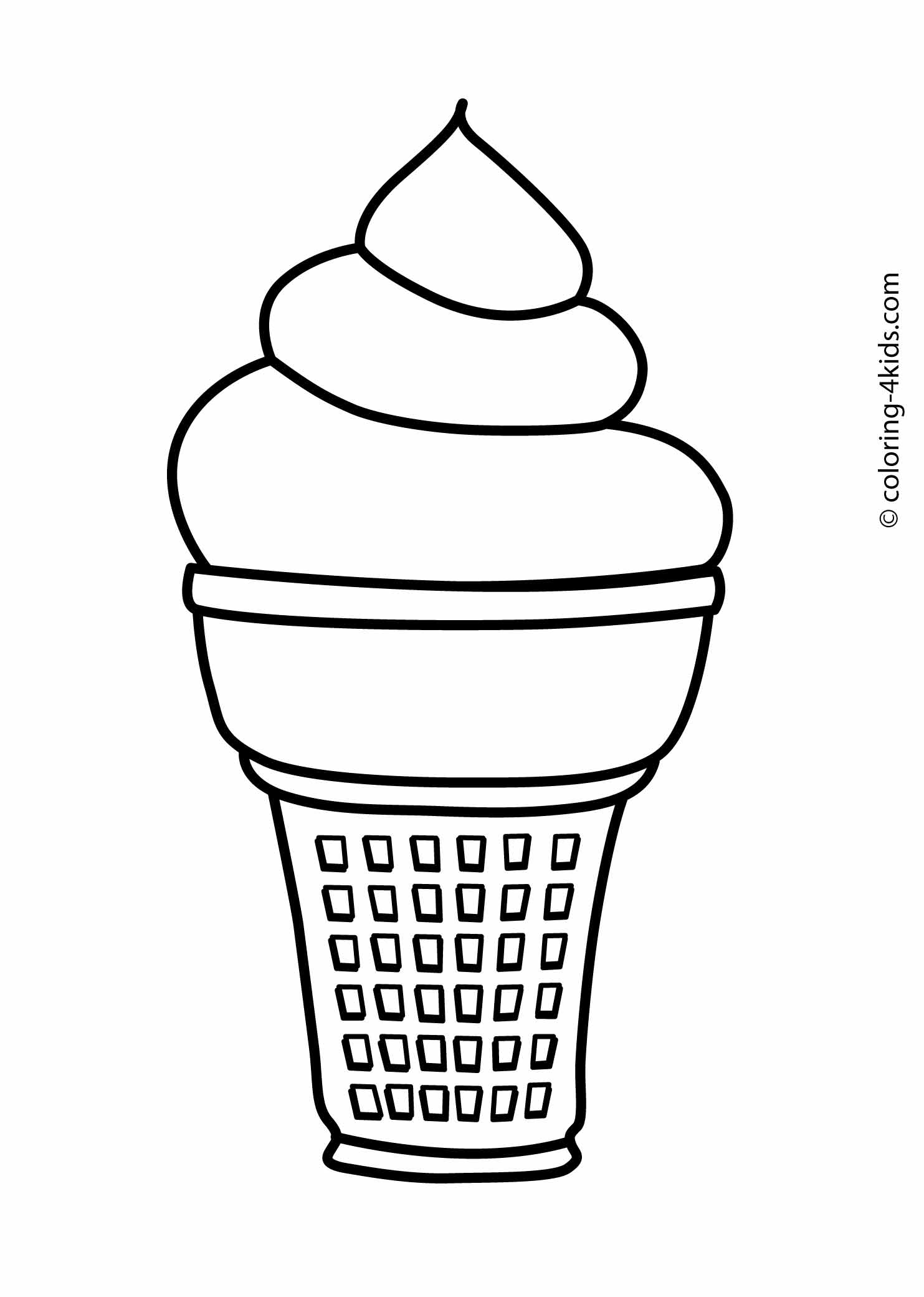 picture of ice cream cone to color icecream cone coloring page at getcoloringscom free picture cone ice cream of color to