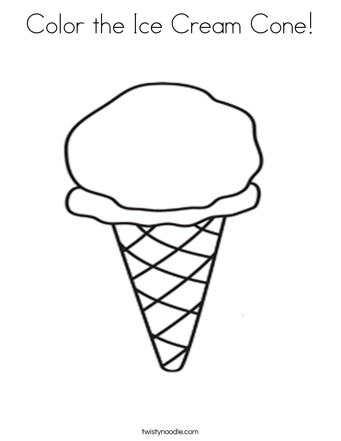 picture of ice cream cone to color ijshoorn kleurplaat ijsjes kleurplaten kleurplatenlcom cone cream picture ice color of to