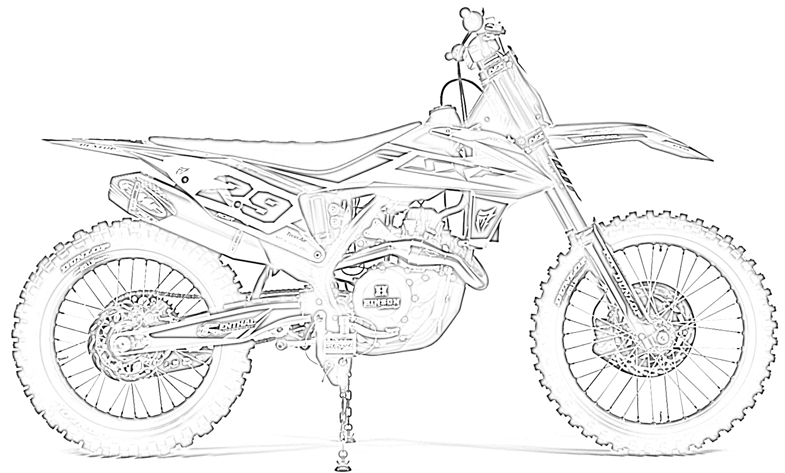 pictures of dirt bikes to color 10 free dirt bike coloring pages for kids save print to dirt bikes pictures color of