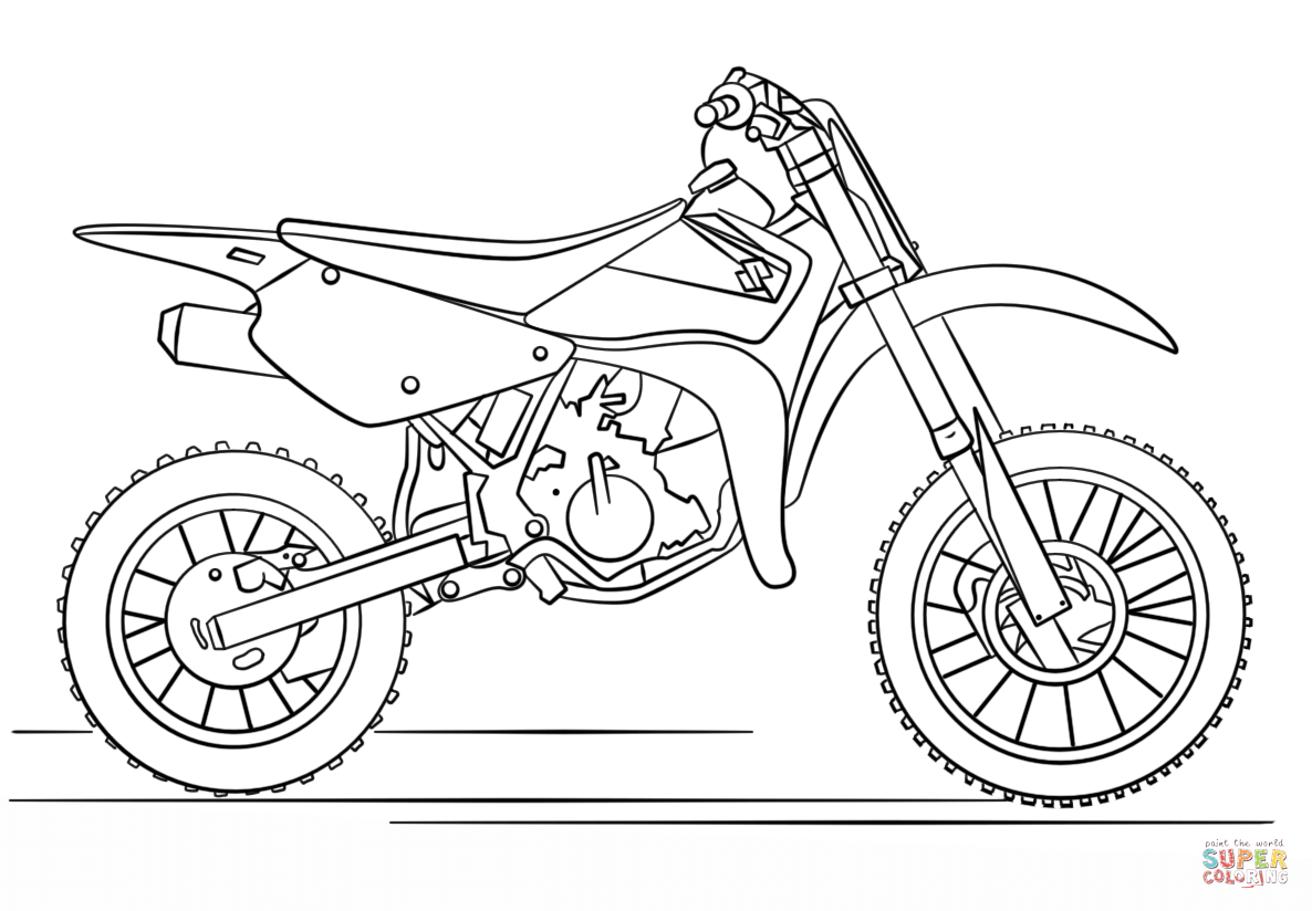 pictures of dirt bikes to color dirt bike coloring pages free coloring pages for kids 5 color to dirt pictures of bikes
