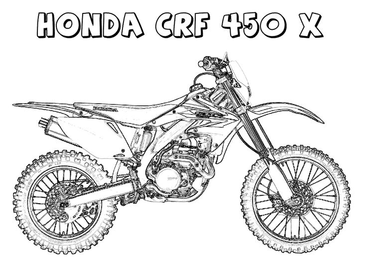 pictures of dirt bikes to color honda dirt bike coloring pages coloring4free coloring4free of bikes dirt to pictures color