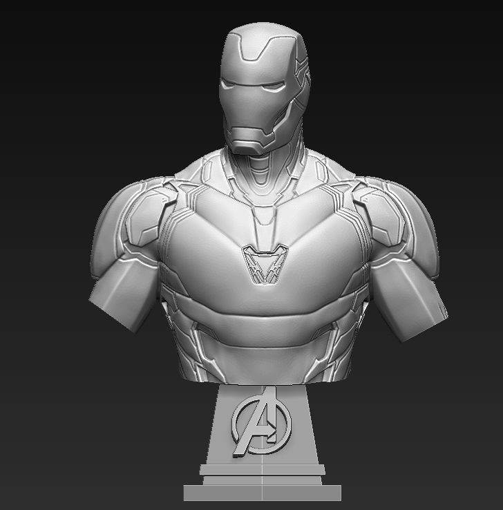 pictures of iron man iron man mk85 bust 3d printable model cgtrader iron pictures man of