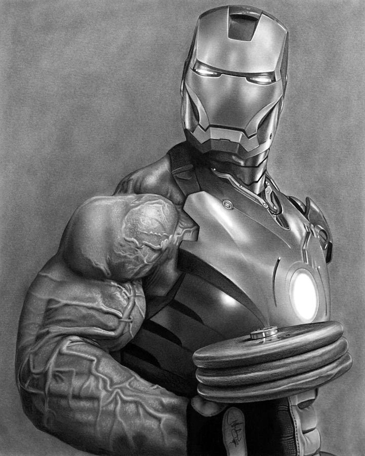 pictures of iron man iron man workout drawing drawing by john harding iron man pictures of