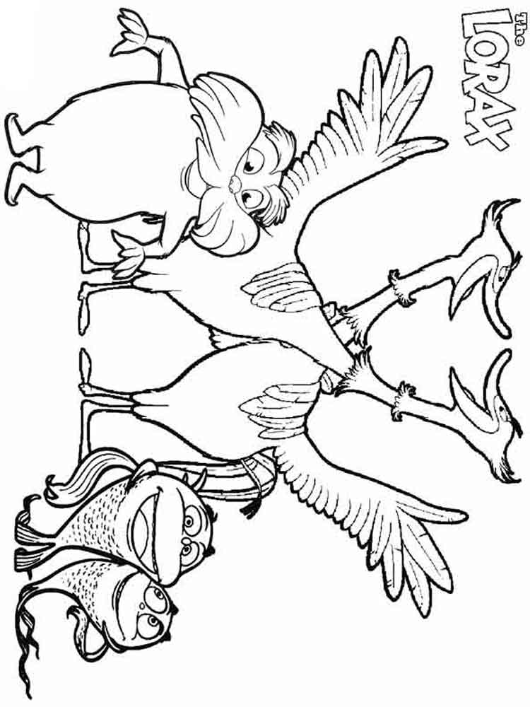 pictures of the lorax to color dr seuss coloring pages lorax the lorax dr seuss pictures color of the lorax to