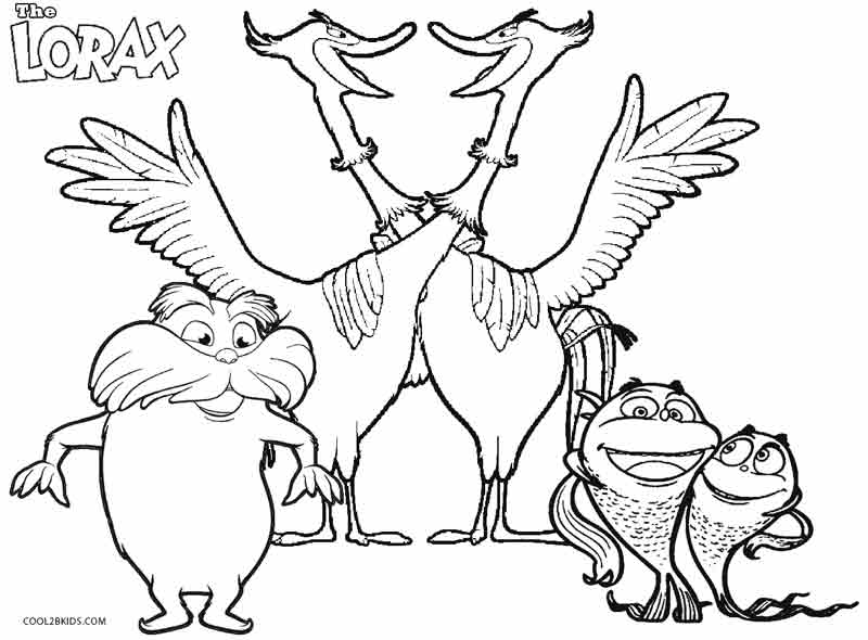 pictures of the lorax to color free printable lorax coloring pages for kids lorax pictures to color of the