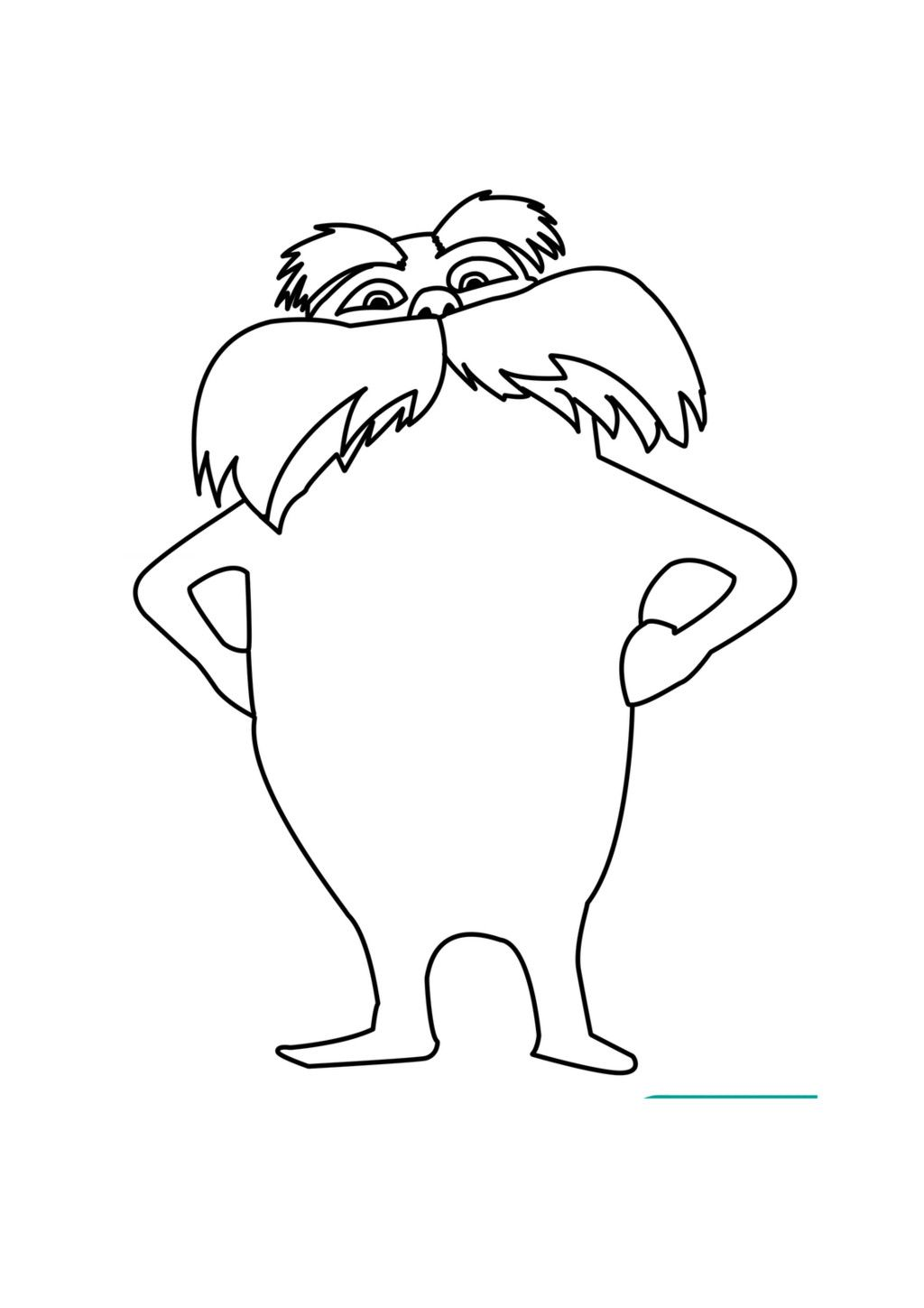 pictures of the lorax to color lorax coloring page coloring home pictures to the lorax color of
