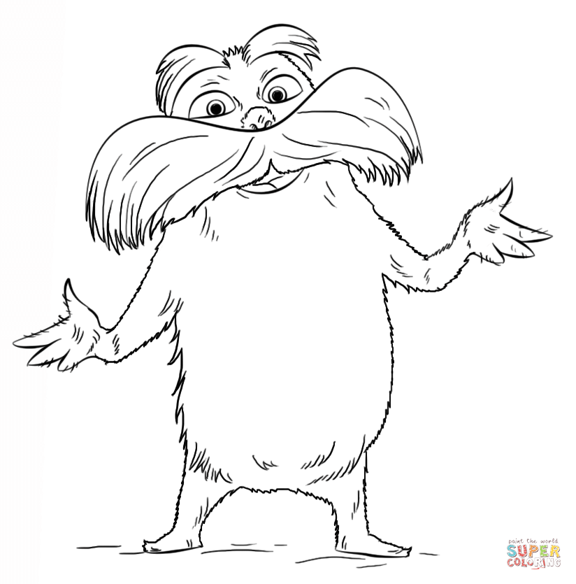 pictures of the lorax to color lorax coloring page free printable coloring pages the to color pictures lorax of
