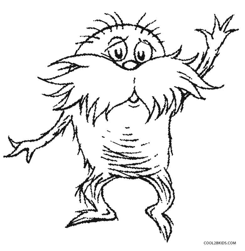 pictures of the lorax to color printable lorax coloring pages for kids of to pictures lorax the color