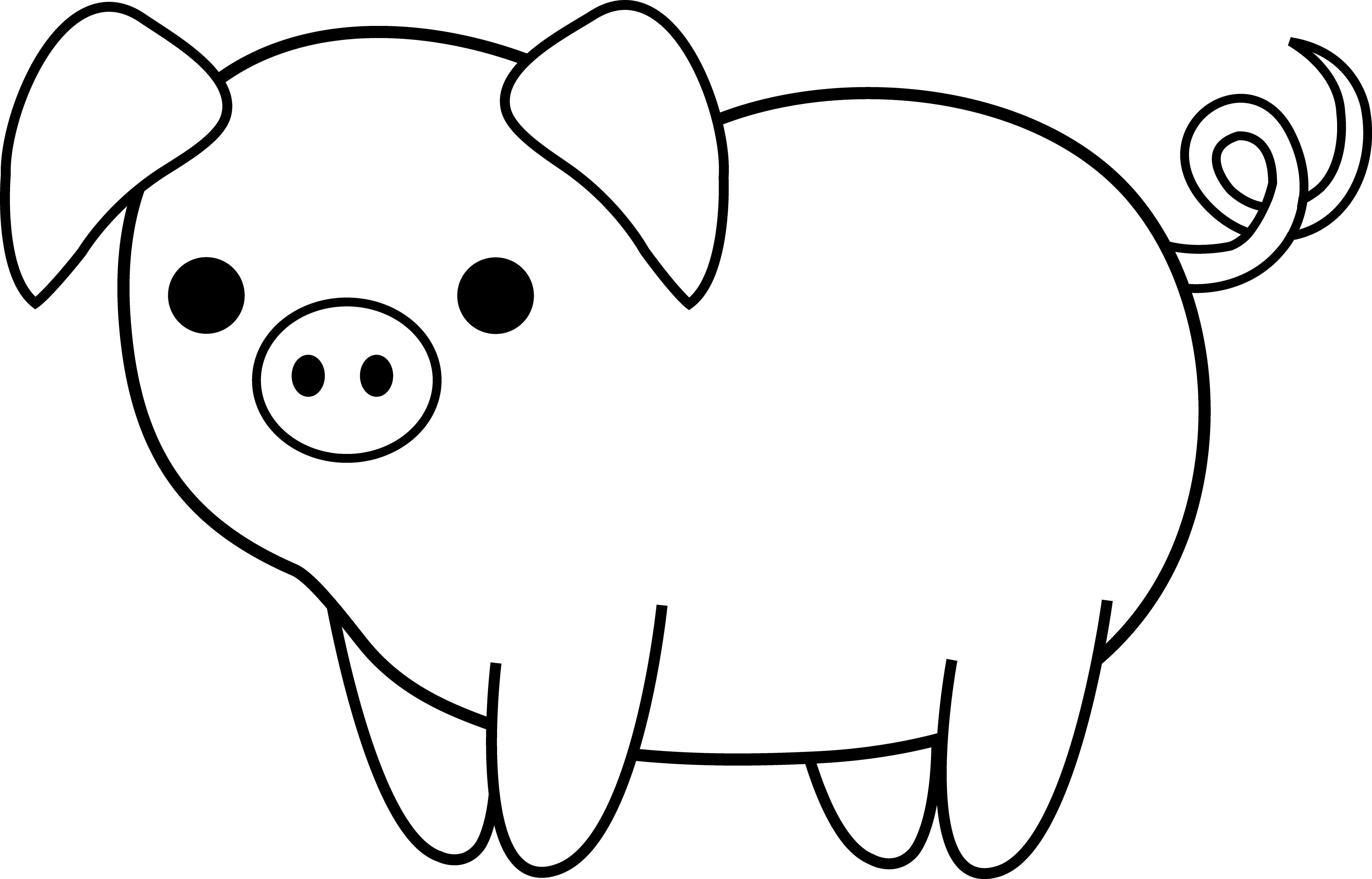 pig outline pig outline clip art clipartsco pig outline