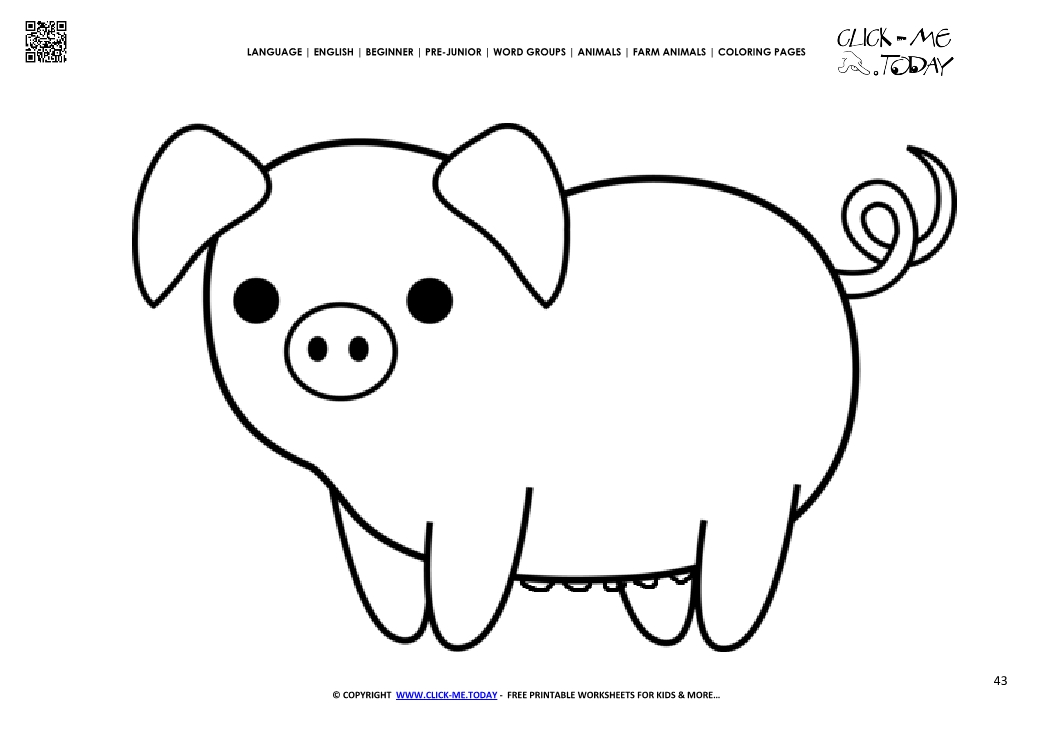 pig pictures to print coloring page cute pig sow color picture of pig pictures print pig to