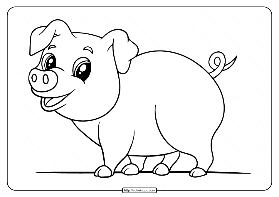 pig pictures to print printable easy pig coloring pages for kids print to pig pictures